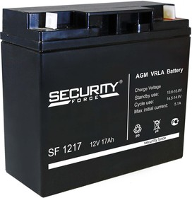 SF1217, Аккумулятор свинцовый 12В-17 Ач, 182*76*167мм