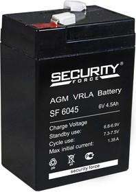 SF6045, Аккумулятор свинцовый 6В-4.5Ач, 70х47х100мм
