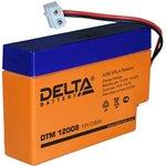 DTM12008, Аккумулятор свинцовый 12В-0.8Ач 96х25х62