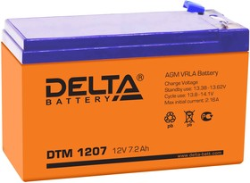 Фото 1/5 DTM1207 (F2), Аккумулятор свинцовый 12В-7.2Ач 151х65х94