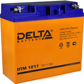 DTM1217, Аккумулятор свинцовый 12В-17Ач 181х76х167
