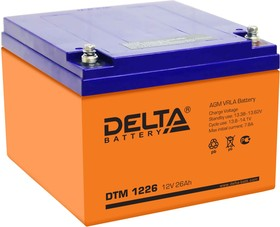 DTM1226, Аккумулятор свинцовый 12В-26Ач 165х125х174