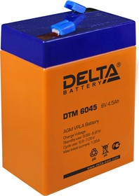 DTM6045, Аккумулятор свинцовый 6В-4.5Ач 70х47х107