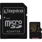 Карта памяти microSDXC UHS-I U1 KINGSTON 64 ГБ, 90 МБ/с ...