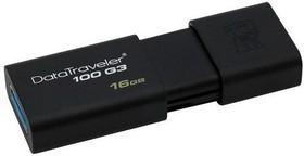 Флешка USB KINGSTON DataTraveler 100 G3 16Гб, USB3.0 [dt100g3/16gb + sdc4/4gb]