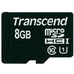 Карта памяти microSDHC UHS-I TRANSCEND Premium 8 ГБ ...