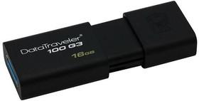Флешка USB KINGSTON DataTraveler 100 G3 16Гб, USB3.0, черный [dt100g3/16gb]