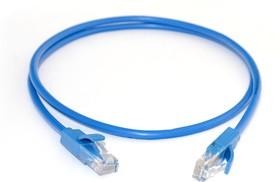 GCR-LNC01-1.5m, GCR Патч-корд прямой 1.5m UTP кат.5e, синий, позолоченные контакты, 24 AWG, литой, ethernet high spe