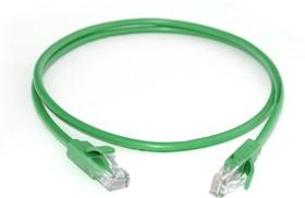 Фото 1/3 GCR-LNC05-40.0m, GCR Патч-корд прямой 40.0m UTP кат.5e, зеленый, позолоченные контакты, 24 AWG, литой, ethernet high