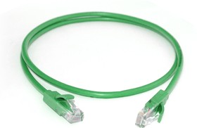 GCR-LNC05-0.15m, GCR Патч-корд прямой 0.15m UTP кат.5e, зеленый, позолоченные контакты, 24 AWG, литой, ethernet high
