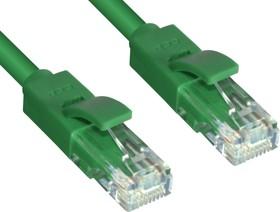 GCR-LNC605-1.0m, GCR Патч-корд прямой 1.0m UTP кат.6, зеленый, позолоченные контакты, 24 AWG, литой, ethernet high sp