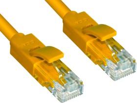 GCR-LNC602-0.3m, GCR Патч-корд прямой 0.3m UTP кат.6, желтый, 24 AWG, литой, ethernet high speed, RJ45, T568B