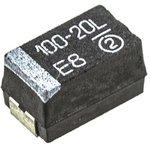 Фото 4/6 593D107X9020E2TE3, Cap Tant Solid 100uF 20V E CASE 10% (7.3 X 4.3 X 4mm) Inward L SMD 7343-43 0.15 Ohm 125°C T/R