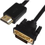 GCR-HD2DVI1-10.0m, Кабель 10.0m HDMI-DVI черный, OD7.3mm ...