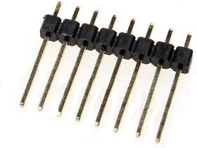 PLS-8 (DS1021-1*8SF112), Вилка штыревая 2.54мм 1x8 прямая тип12