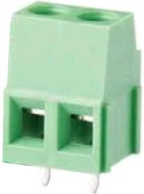 KLS2-128I-5.00-02P-4S (DG500-5.0-02P), Клеммник винтовой, 2 конт., шаг 5.0 мм