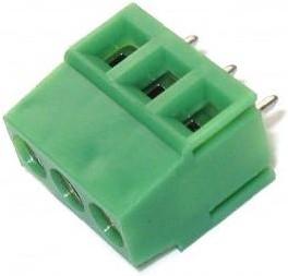 KLS2-128I-5.00-03P-4S, Клеммник винтовой 3 конт., шаг 5.0 мм
