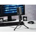 Микрофон проводной Hama 00139906 2м черный