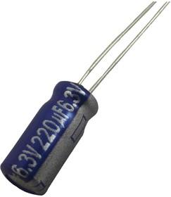Фото 1/2 ECA0JAM471X, Электролитический конденсатор, 470 мкФ, 6.3 В, Серия AM, ± 20%, Радиальные Выводы