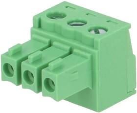 KLS2-EDK-3.50-03P-4S (15EDGK-3.5-03P), Клеммник разъемный 3 конт., шаг 3.5 мм
