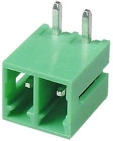 KLS2-EDR-3.50-02P-4 (15EDGRC-3.5-02P), Клеммник разъемный на плату 2 конт., шаг 3.5 мм