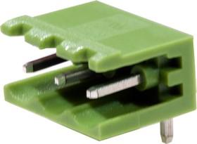 KLS2-EDR-5.08-03P-4 (2EDGR-5.08-03P), Клеммник разъемный 3 конт., шаг 5.08 мм