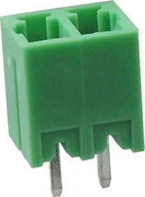 KLS2-EDV-3.50-02P-4 (15EDGVC-3.5-02P), Клеммник разъемный 2 конт., шаг 3.5 мм