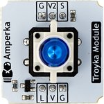 Фото 2/4 Troyka-Led Button Blue, Кнопка с синим светодиодом