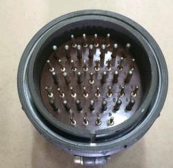 ШР60П45ЭГ2 вилка, Разъем на кабель с прямым патрубком для экранированного кабеля