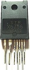 STRX6756, Микросхема, SMPS схема упpавления, MOSFET 650V, Po=0W [TO3PF/7]