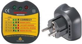 MS6860D Mastech тестер электрических розеток и заземления