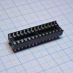Фото 3/3 SCS-28 (DS1009-28AN), DIP панель 28 контактов узкая