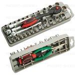SD-2308M Набор бит и головок (27шт., ключ, рукоятка ...