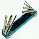 Фото 2/2 8PK-021S, Набор ключей-шестигранников и отверток (7шт.,складной)