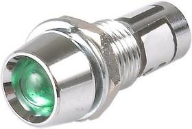 KLS9-IL-M8-03A-N1-G (N-702G), Лампа неоновая с держателем зеленая 220V