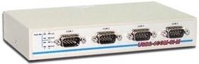 USB2-4COM-Si-M, 4-портовый преобразователь USB в RS-232 с гальванической изоляцией, крепление на DIN-рейку