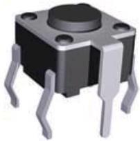 KLS7-TS6602-5.0-180 (TC-0113), Кнопка тактовая с заземлением 6х6мм, h=5мм (TS-A2PG-130)