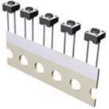 KLS7-TS6607-4.3-180-T (IT-1102-RT), Кнопка тактовая прямая 6х6х4.3мм 2pin