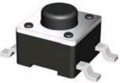 KLS7-TS6604-4.3-180-B (IT-1102S), Кнопка тактовая 6х6х4.3мм SMD
