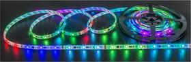 Фото 1/3 NLS-5050RGBM30-5-IP65-12V (71834), Лента светодиодная 5050 (30шт/метр), 5Вт/м,12В,RGB, бегущая волна,IP65(1м)
