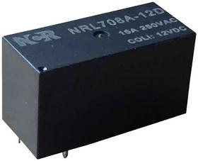 NRL708A-1A-12-S, Реле 1 зам. 12VDC / 16A, 250VAC бистабильное 1 кат.