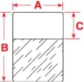 WRAP-9-499 - этикетки из нейлоновой ткани, 2100 шт