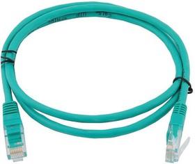 Фото 1/3 GCR-LNC05-10.0m, Патч-корд прямой 10.0m UTP кат.5e, зеленый, позолоченные контакты, 24 AWG, литой, Greenconnect Russi