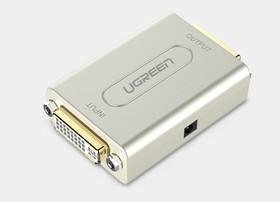 Фото 1/2 UG-40266, Удлинитель кабеля DVI до 60m UGreen встроенный чип-усилитель