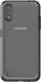 Фото 1/2 Чехол (клип-кейс) Samsung для Samsung Galaxy A01 araree A cover черный (GP-FPA015KDABR)