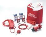 Набор блокираторов пробный в сумке по 1 виду блокиратора, красные (малый универс. блокиратор клапана,малый рычаг,тросовый блокиратор, трос-