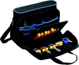 Фото 1/2 KL905B15 Проф. сумка для хранения и переноски ноутбука и инстр-в, наполнение: 11 инструментов VDE до 1000В, 2 стриппера, рулетка
