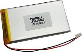 LP5558105-PCM, Аккумулятор литий-полимерный (Li-Pol) 4000(4500)мАч 3.7В, с защитой, PoliCell