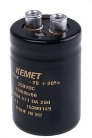 ALS30A471DA250, Al electrolytic screw cap