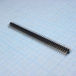 Фото 2/3 PLD2-80 (DS-1025-05 - 2x40), Вилка штыревая 2мм 2х40 прямая